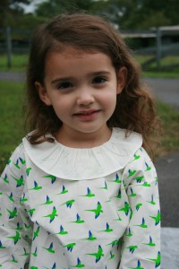 Girl in the latest kids' style