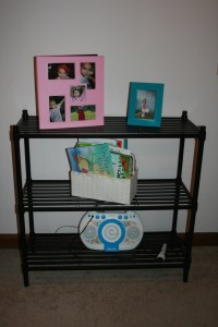 Photo of the shelving rack