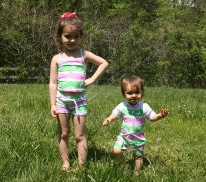 Photo of kids in the swimsuits
