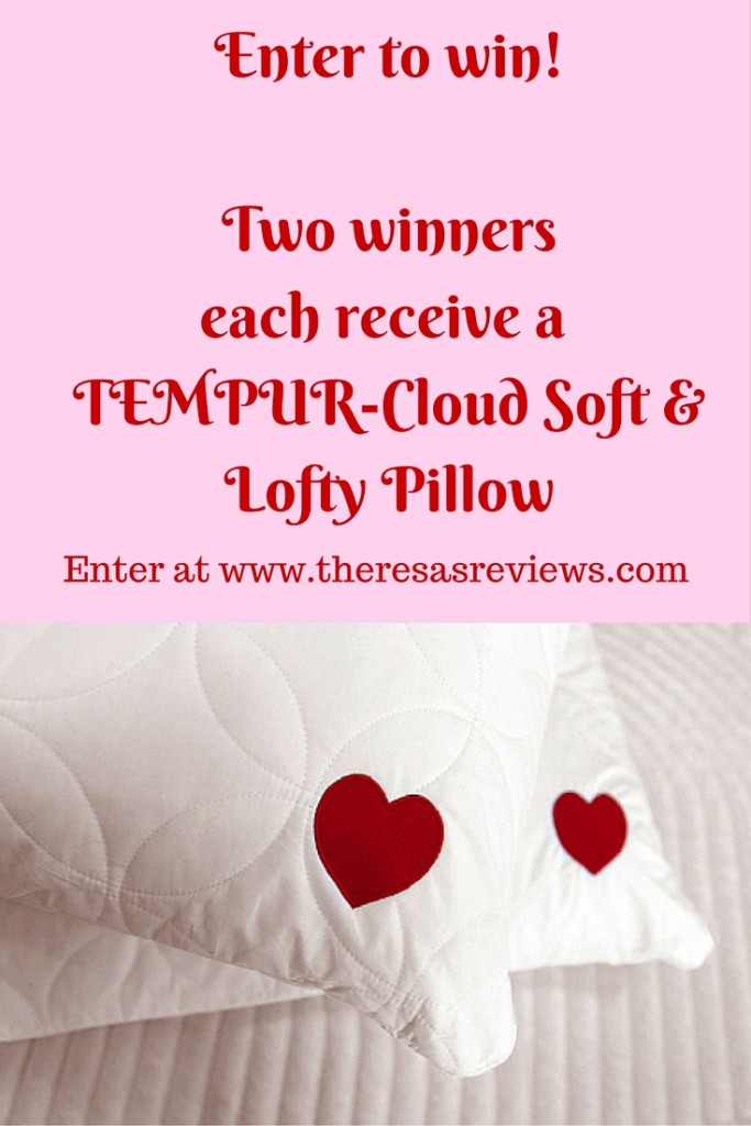 Enter to win! Two winners each receive a TEMPUR-Cloud Soft & Lofty Pillow. @TempurPedic #tempurlove #ad #sponsored