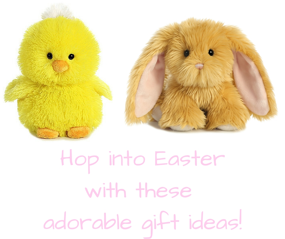 Hop into Easter with these adorable gift ideas! Easter gift guide - gifts for the Easter basket - Featuring Aurora World - on Theresa's Reviews