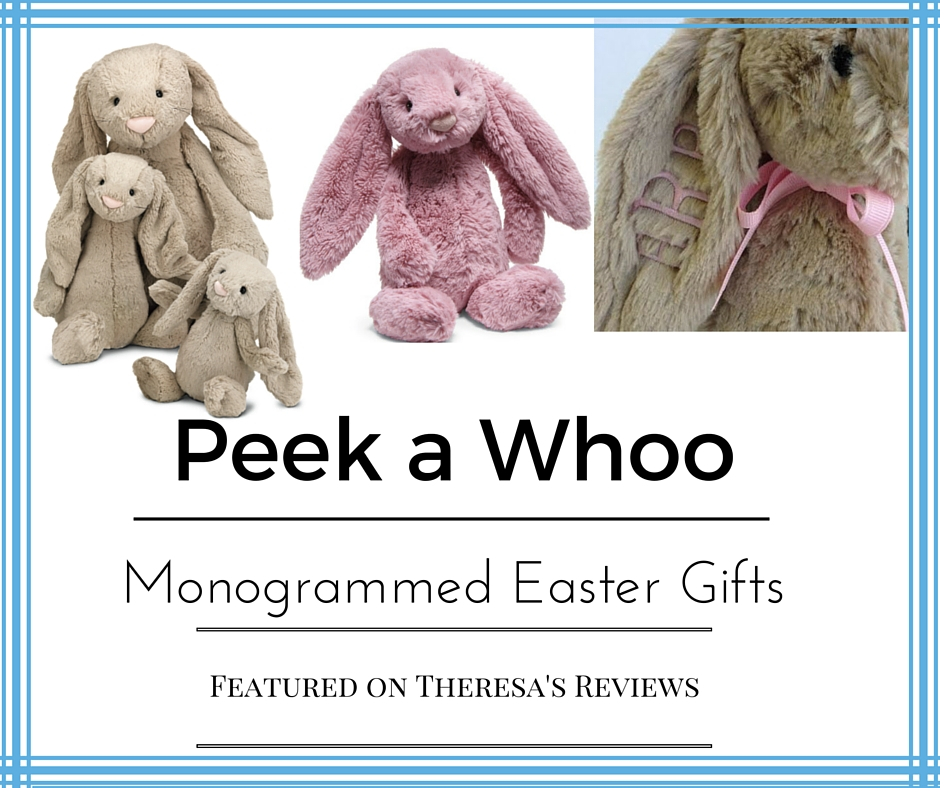 Easter gift guide - monogrammed gifts for the Easter basket - Featuring @peekawhoo - on Theresa's Reviews