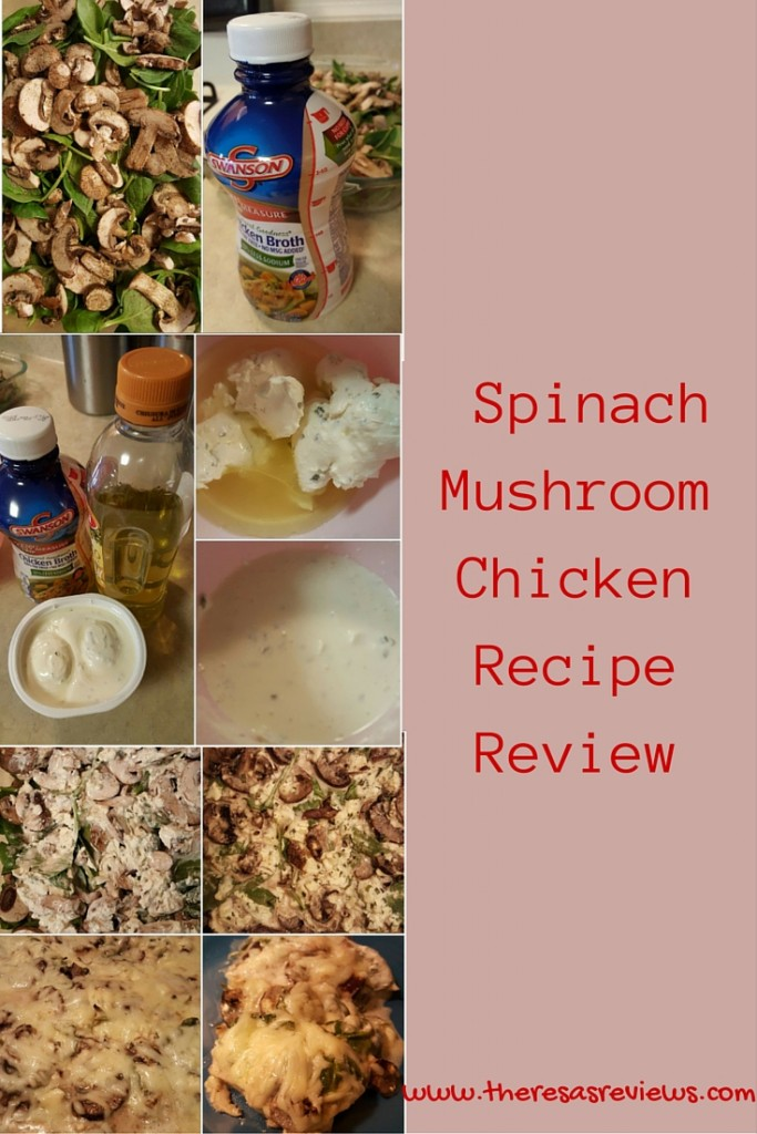 Spinach Mushroom Chicken Recipe Review - Theresa's Reviews - Easy Low-Carb Recipe! Featuring @swansonbroth