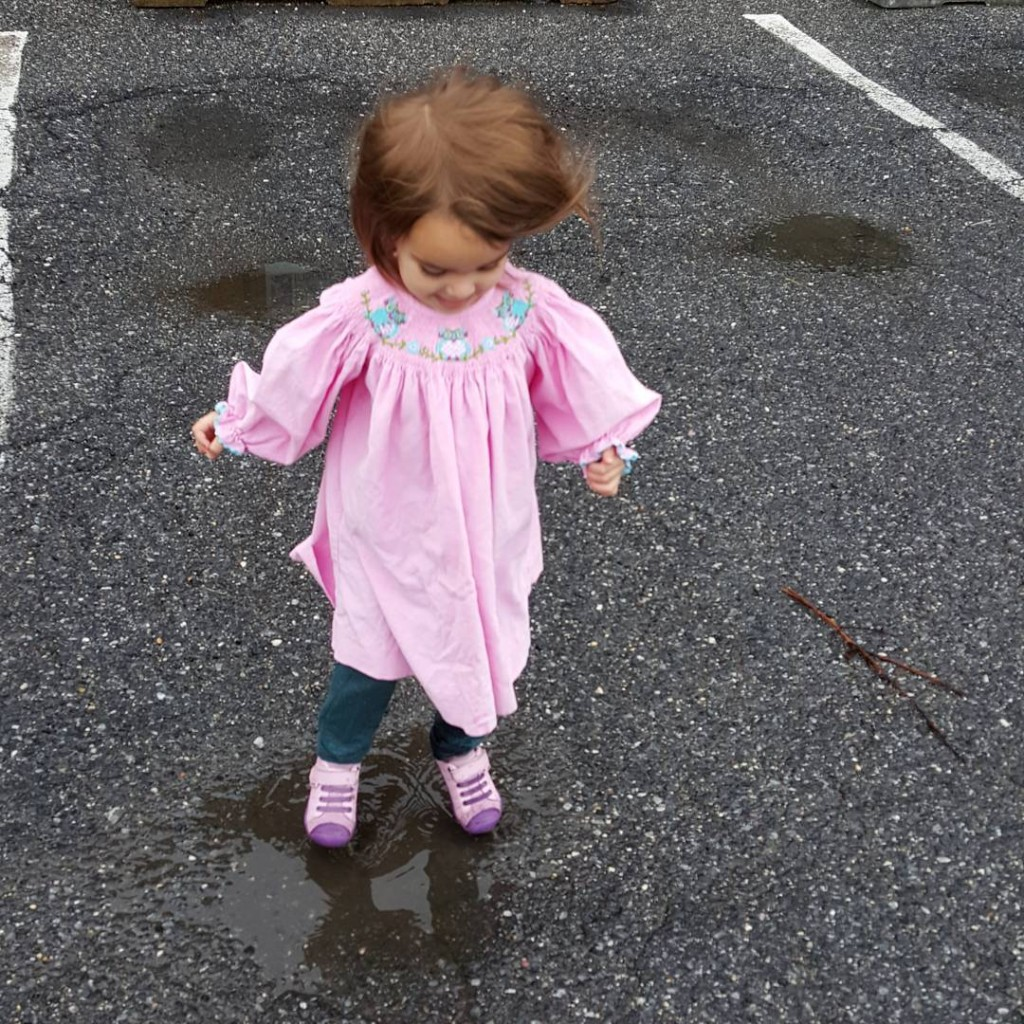 Because puddles are meant for jumping in