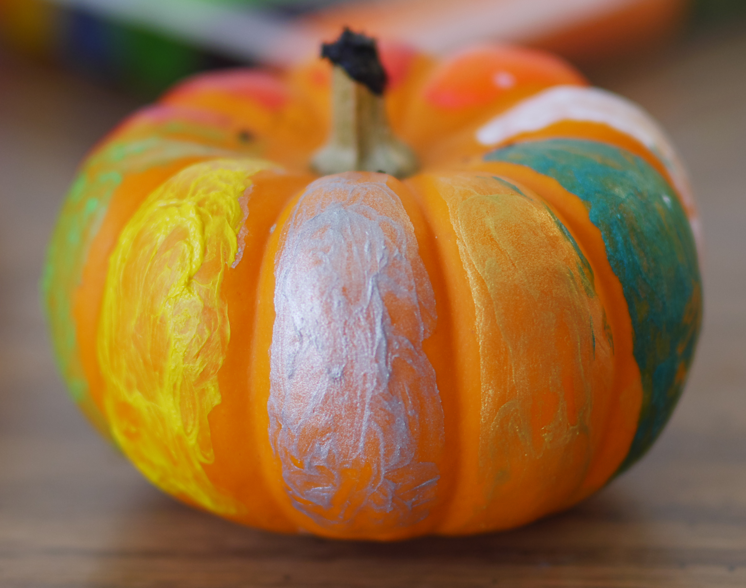 Mess-Free Pumpkin Painting - Decorating Pumpkins with Kwik Stix Paint - Found on Theresa's Reviews