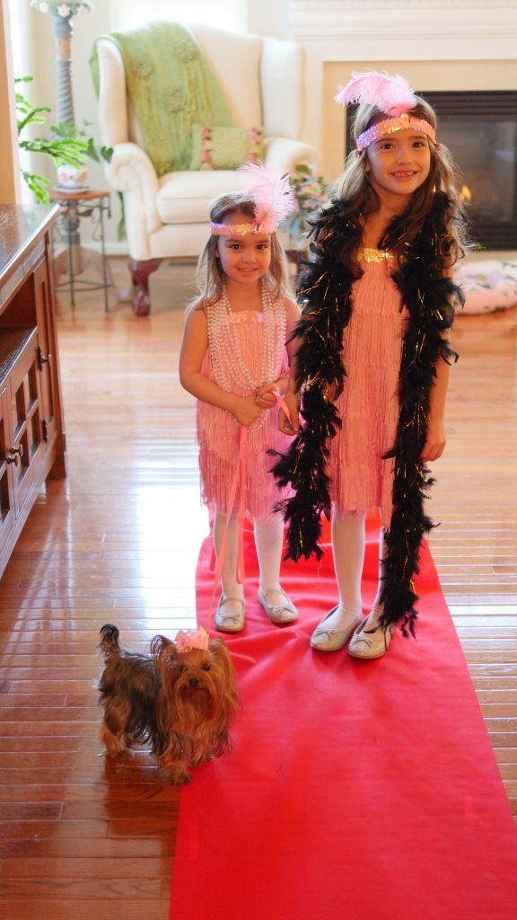 5 tips for the ultimate kid-friendly Oscar party. Set up a red carpet for the children to walk down in their costumes.