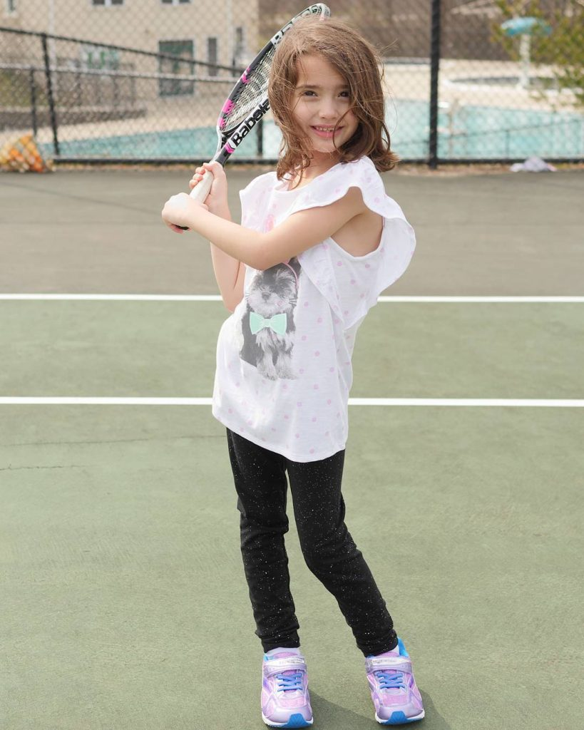 We got outside to play tennis this afternoon and ithellip