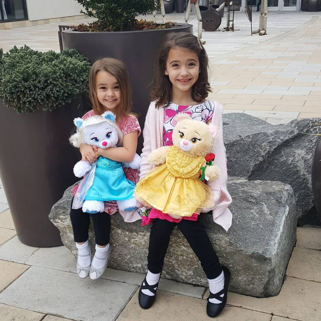 Awesome day today making Elsa and Belle bears at buildabear!hellip