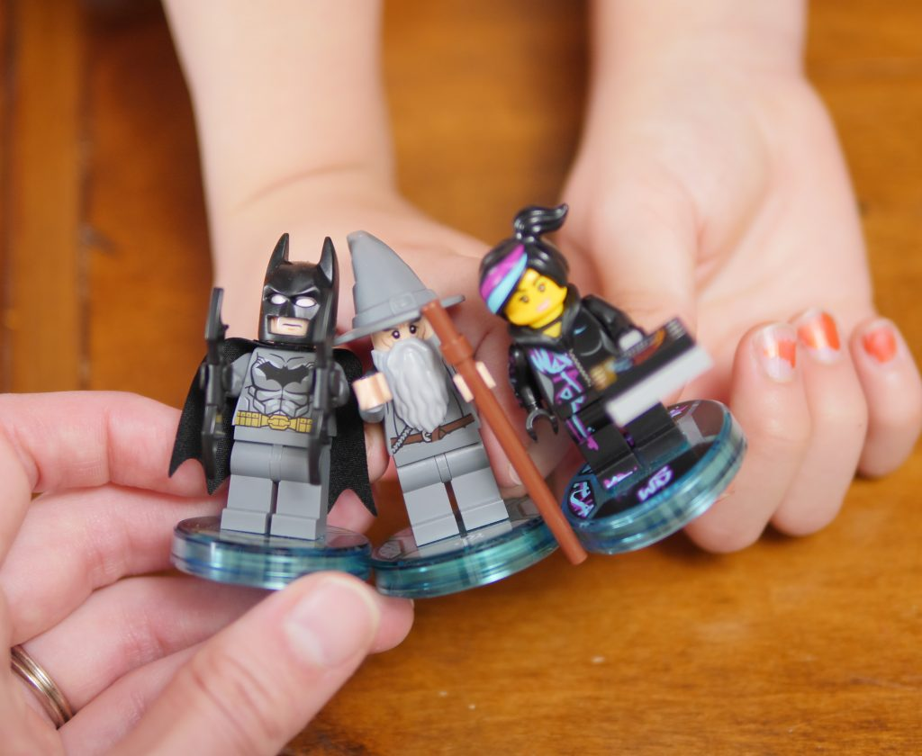 With LEGO Dimensions, each family member can choose a character to become!