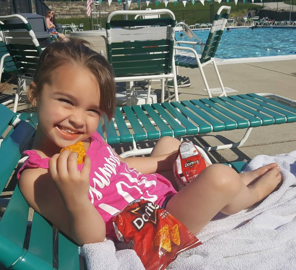 The poolside with Doritos need I say more? Happy Friday!hellip