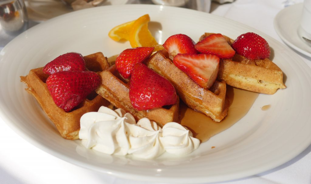 Old Fashioned Belgian Waffles at the 1863 Restaurant in Gettysburg