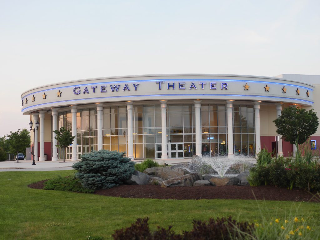 Gateway Theater at sunset at Gateway Gettysburg