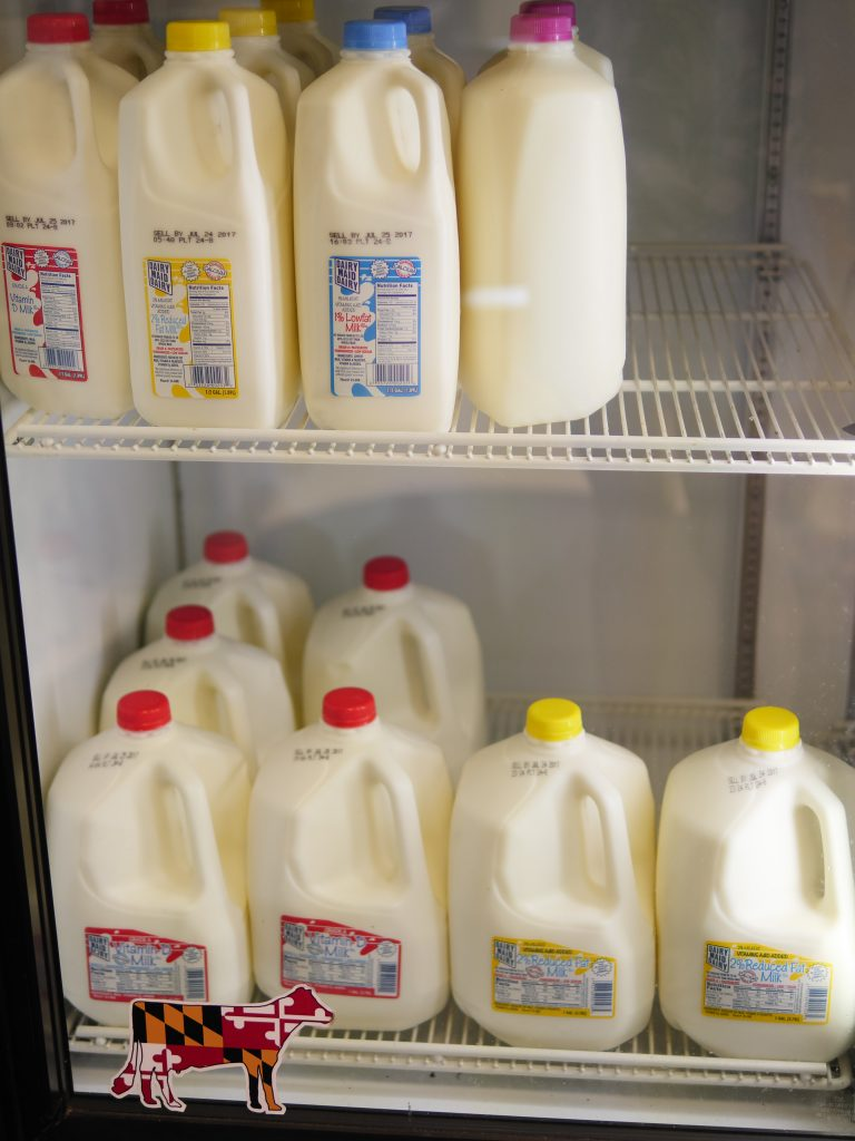 Locally grown milk and other dairy products as well as beef products are sold at Rocky Point Creamery in Frederick County, Maryland