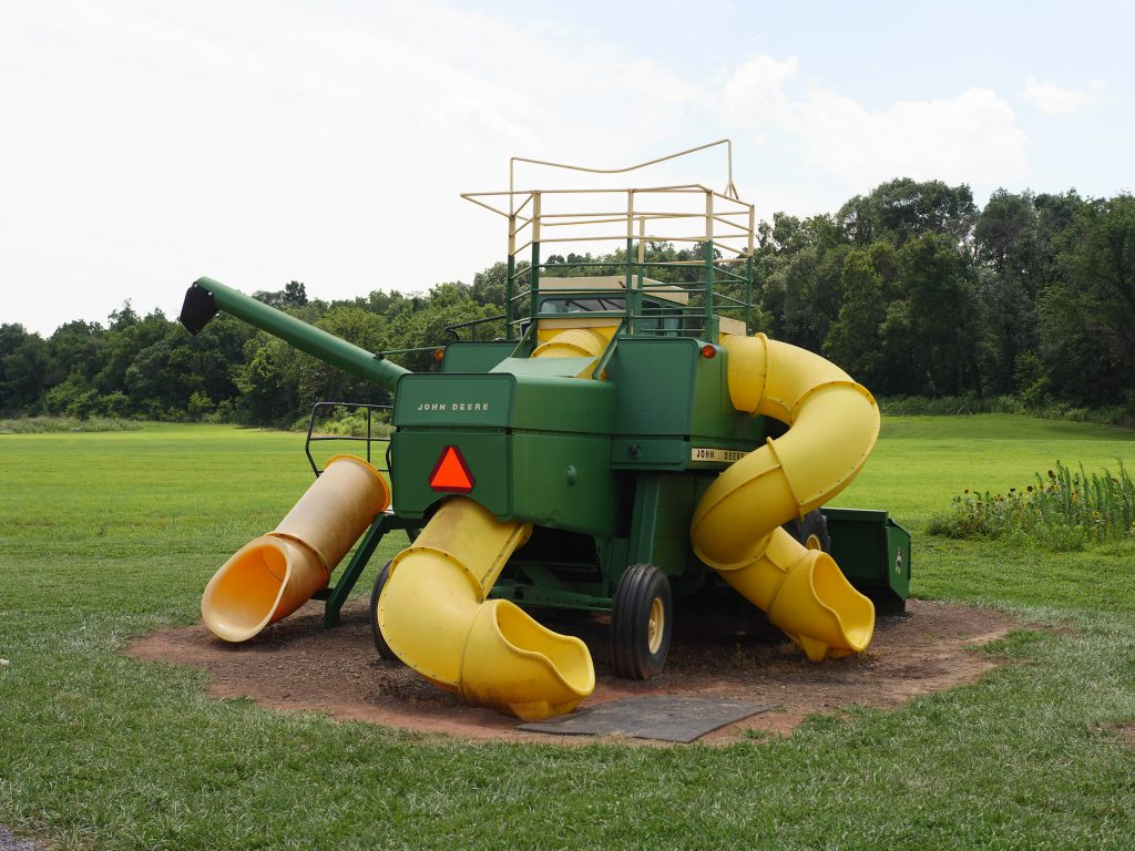The tractor-inspired playground at Rocky Point Creamery in Frederick County, Maryland