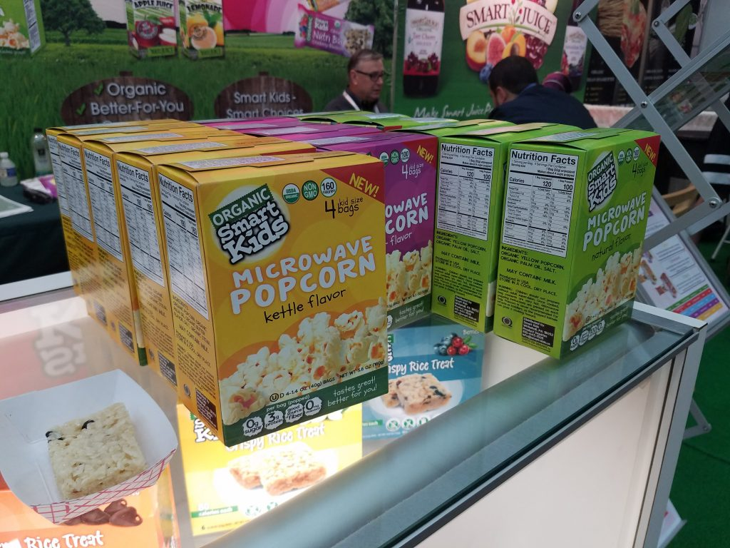 Organic Smart Kids Microwave Popcorn at Natural Products Expo East 2017 - Theresa's Reviews #ExpoEast #ExpoEast2017