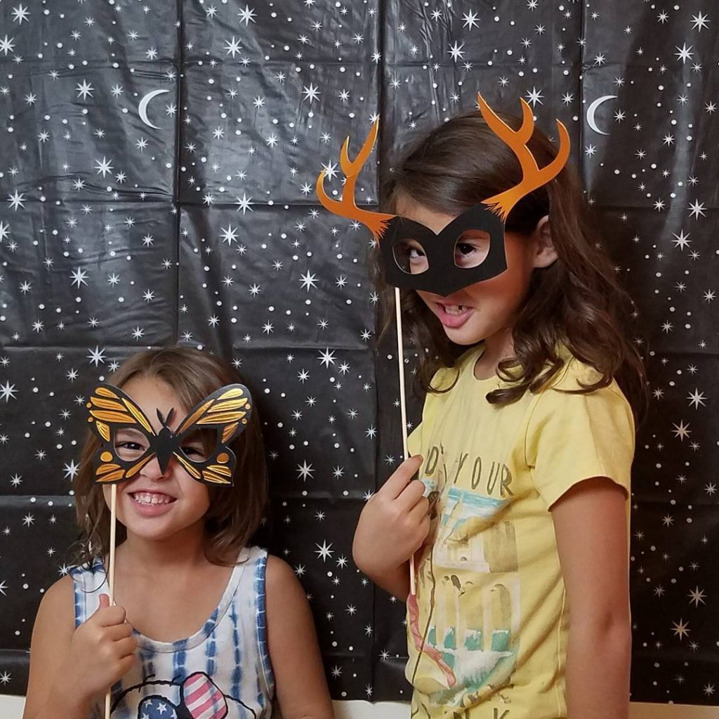 The night before our Halloween house tour, we stayed up late cleaning and decorating. One of our favorite parts was trying out our photo booth to make an Instastory inviting everyone to join us! Theresa's Reviews 2017 Halloween Decor