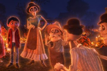 """FAMILY REUNION – In Disney•Pixar's""""Coco,"""" aspiring musician Miguel (voice of Anthony Gonzalez) makes an impulsive choice that sets off a series of events that ultimately lands him in the Land of the Dead where he's able to interact with his late family members, including Tía Rosita (voice of Selene Luna), Tía Victoria, Papá Julio (voice of Alfonso Arau), and Tío Oscar and Tío Felipe (both voiced by Herbert Siguenza). Disney•Pixar's""""Coco"""" opens in U.S. theaters on Nov. 22, 2017. ©2017 Disney•Pixar. All Rights Reserved."""