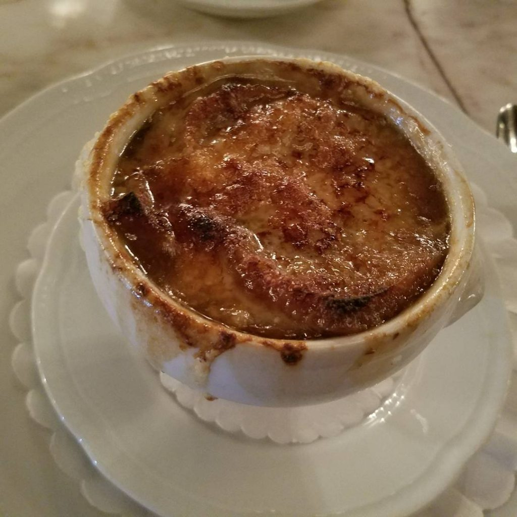 A delicious French Onion Soup and CroqueMonsieur at petitlouislake forhellip