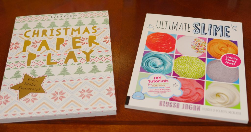 Christmas Paper Play and Ultimate Slime are two books that will keep children entertained. - Theresa's Reviews 2017 Christmas Gift Guide For Children