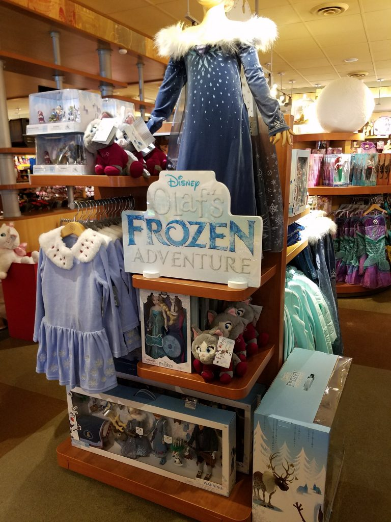 Theresa's Reviews - Olaf's Frozen Adventure Toys In The Disney Studio Store In Los Angeles