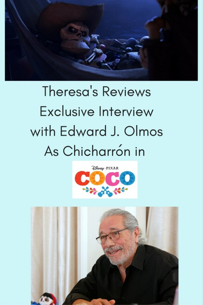 Theresa's Reviews Exclusive Interview with Edward J. Olmos As Chicharrón in Disney Pixar's Coco