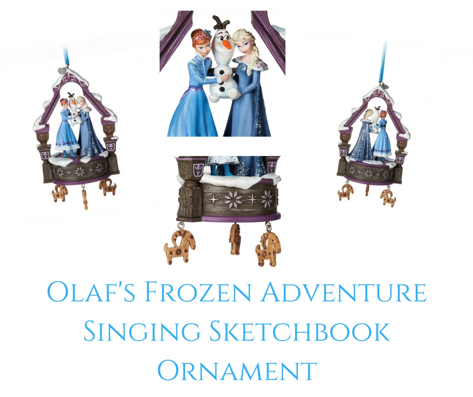 Theresa's Reviews - Olaf's Frozen Adventure Singing Sketchbook Ornament