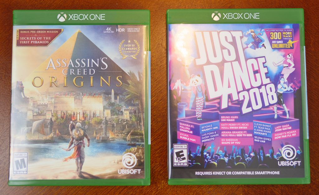 Theresa's Reviews 2017 Christmas Gift Guide For Men - Some of the latest X Box games for 2018 include Assassin's Creed Origins and Just Dance 2018.