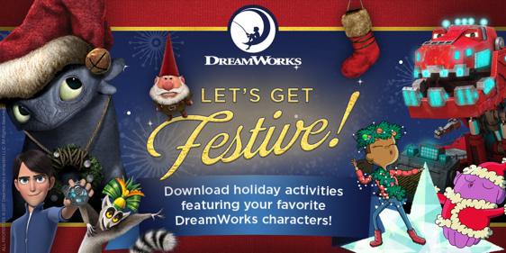 DreamWorks holiday printables