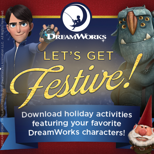 Theresa's Reviews - FREE DreamWorks holiday printables