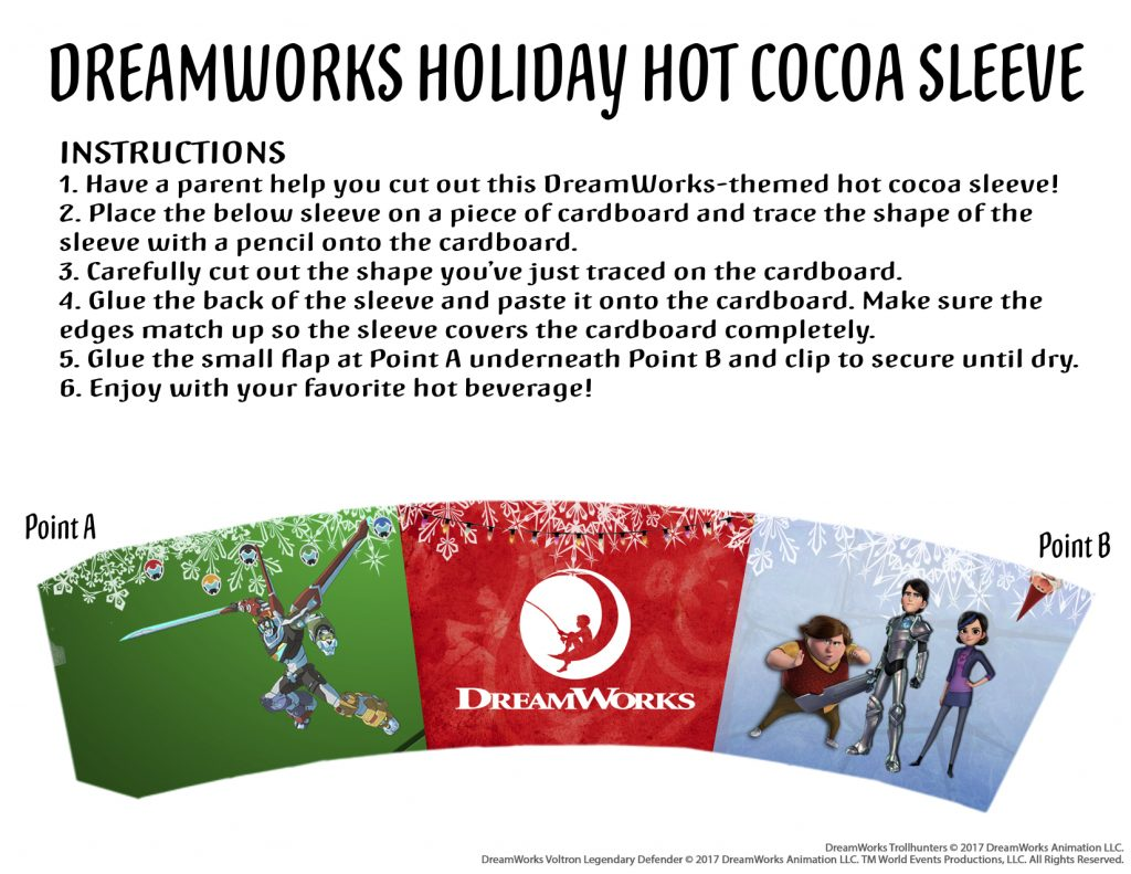 Theresa's Reviews DreamWorks Holiday Hot Cocoa Sleeve