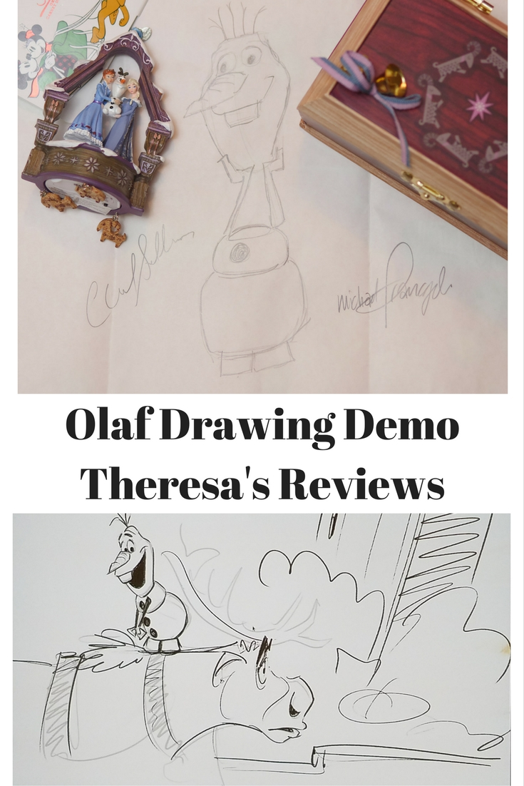 Olaf Drawing Demo - Theresa's Reviews #OlafsFrozenAdventure #PixarCocoEvent