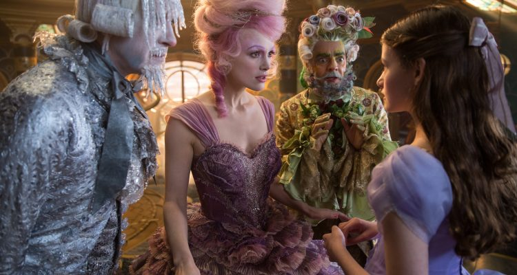 Theresa's Reviews - Richard E. Grant is Shiver, Keira Knightley is The Sugar Plum Fairy, Eugenio Derbrez is Hawthorne and Mackenzie Foy is Clara in Disney's THE NUTCRACKER AND THE FOUR REALMS.
