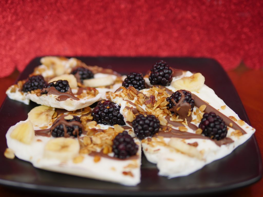 Theresa's Reviews - Berry Banana Chocolate Yogurt Bark