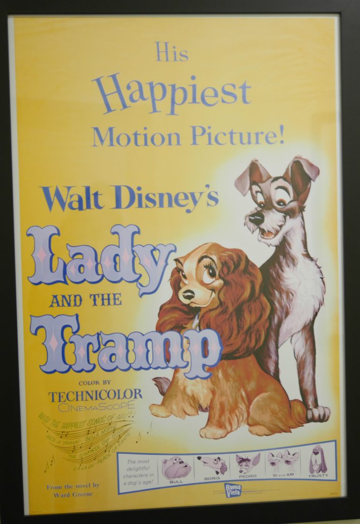 Theresa's Reviews - Walt Disney's Lady and the Tramp poster at Walt Disney's original office suite on the Studio lot