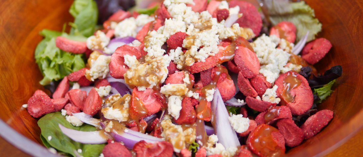 Strawberry Blue Cheese Pecan Salad