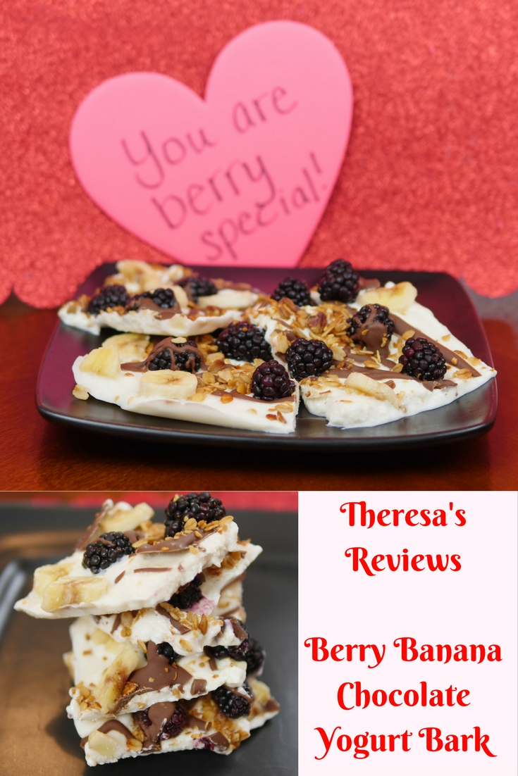 Berry Banana Chocolate Yogurt Bark | Theresa's Reviews