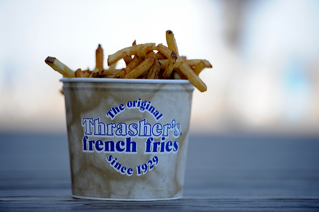 Fries at Thrasher's Fries