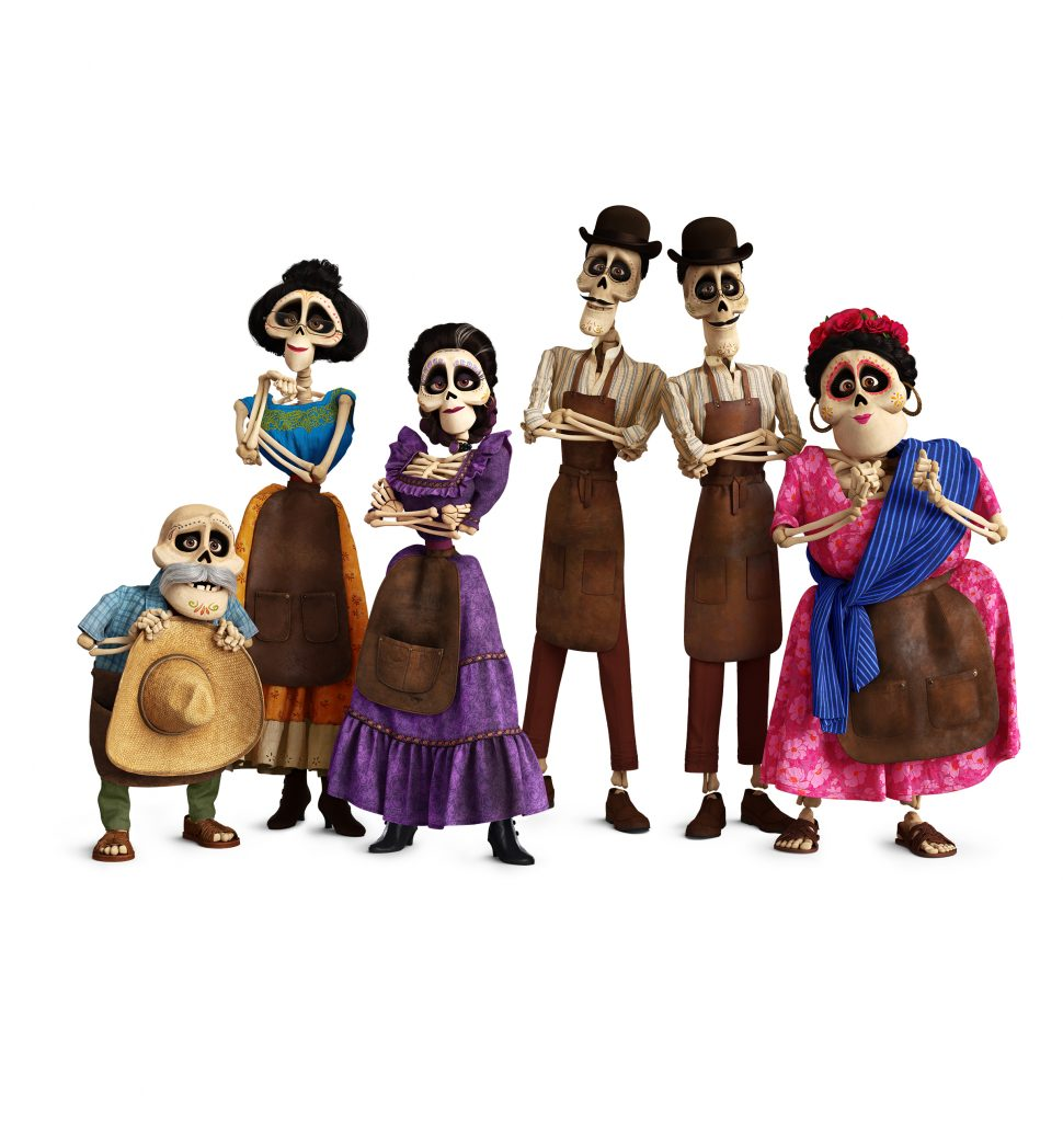In the 'Fashion Through The Ages' bonus feature, you see the work animators did to make the traditional skirts move on the skeletons.