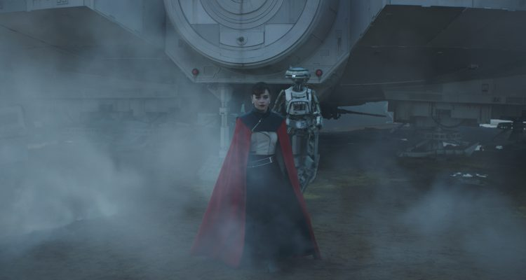 Emilia Clarke is Qi'ra and Phoebe Waller-Bridge is L3-37 in SOLO: A STAR WARS STORY. #SoloAStarWarsStory