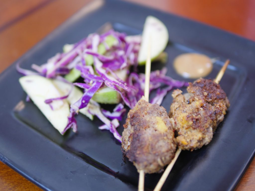 Theresa's Reviews - Sun Basket's Korean beef skewers with sesame-cabbage slaw is gluten-free, dairy-free, soy-free and paleo.