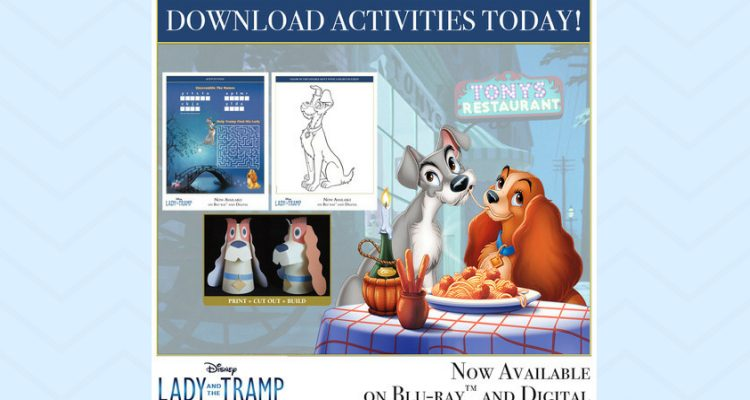 Lady and the Tramp Activity Sheets - Theresa's Reviews
