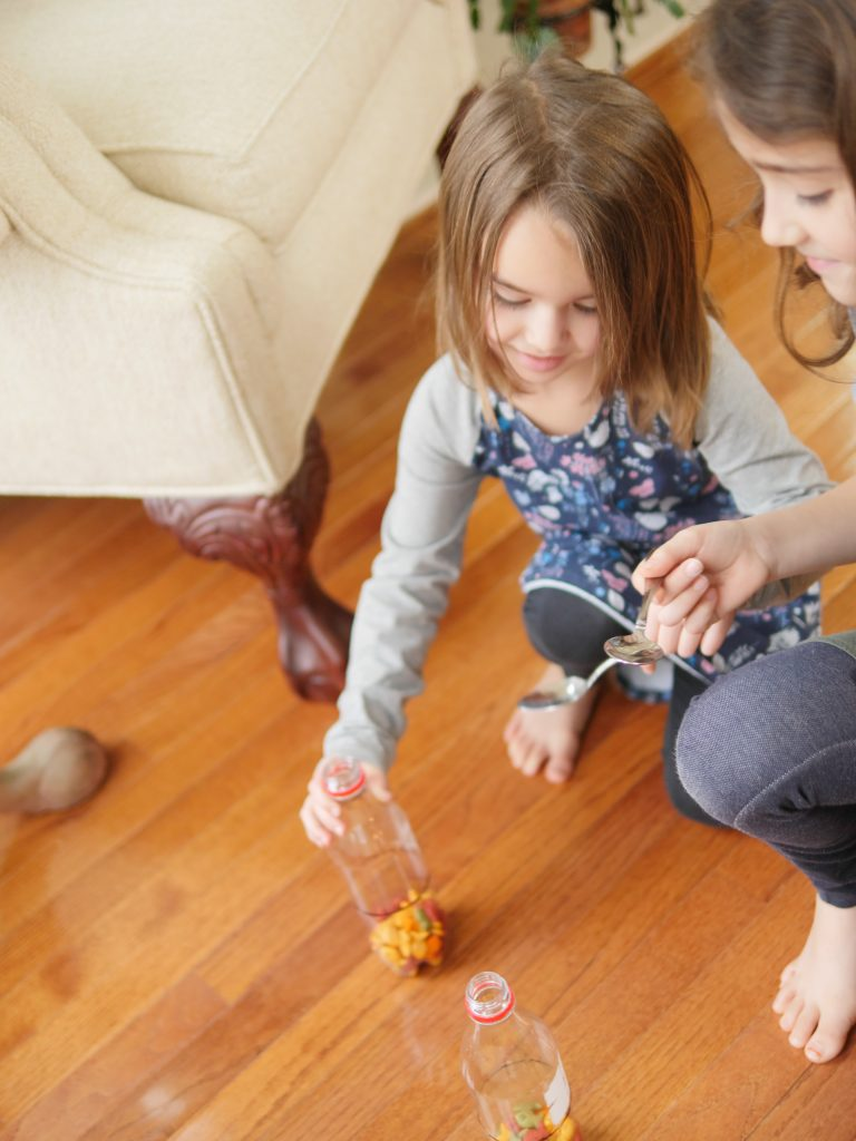 You can make the game easier for younger children by teaching them how to cover the spoon or having them bring only a couple crackers at a time.