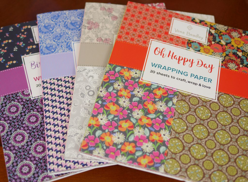 3 Paper Craft Gift Ideas (& Vera Bradley Giveaway!) - Vera Bradley Wrapping Paper Books Theresa's Reviews