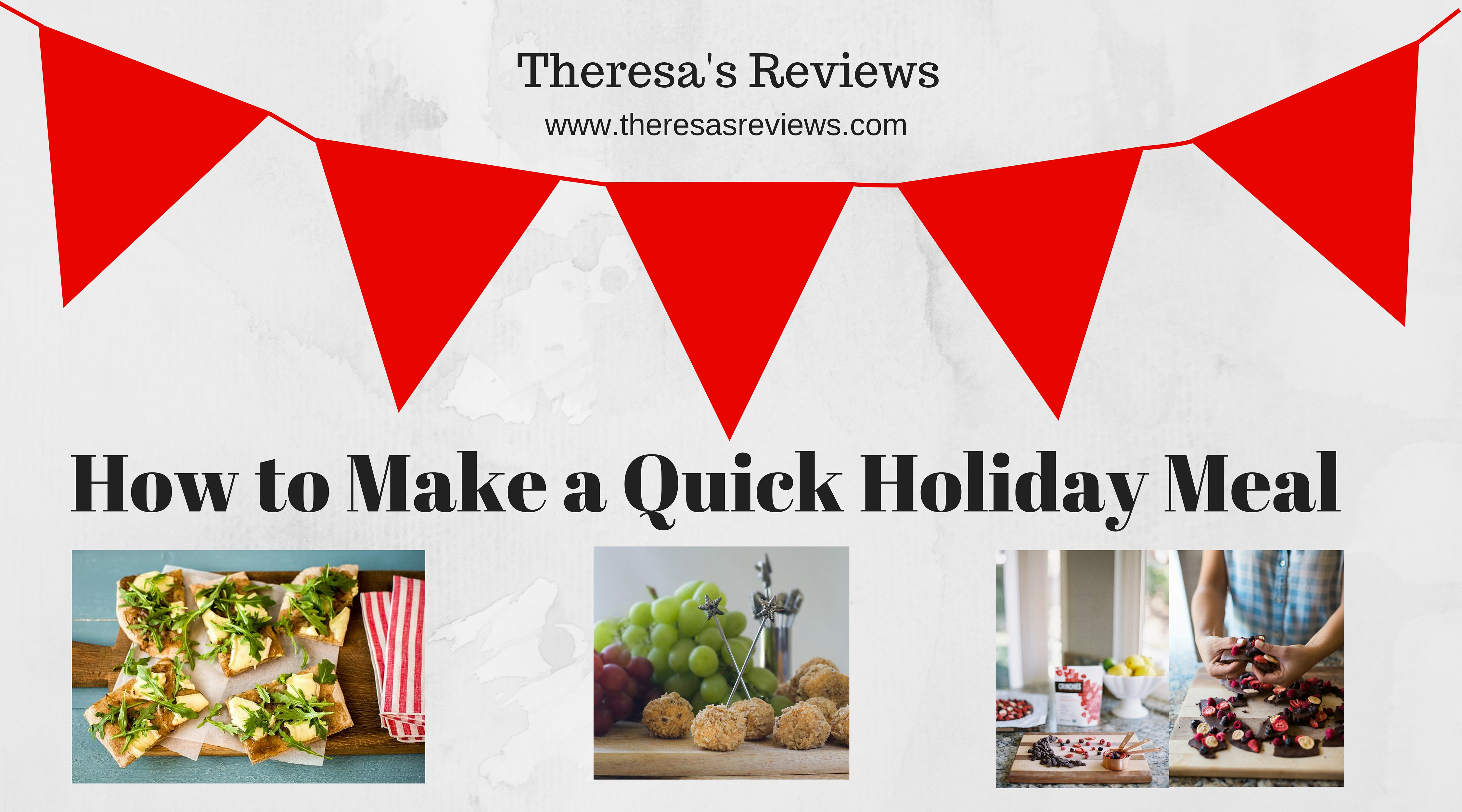 How to Make a Quick Holiday Meal - at Theresa's Reviews - www.theresasreviews.com #cooking #meals #food #holidays