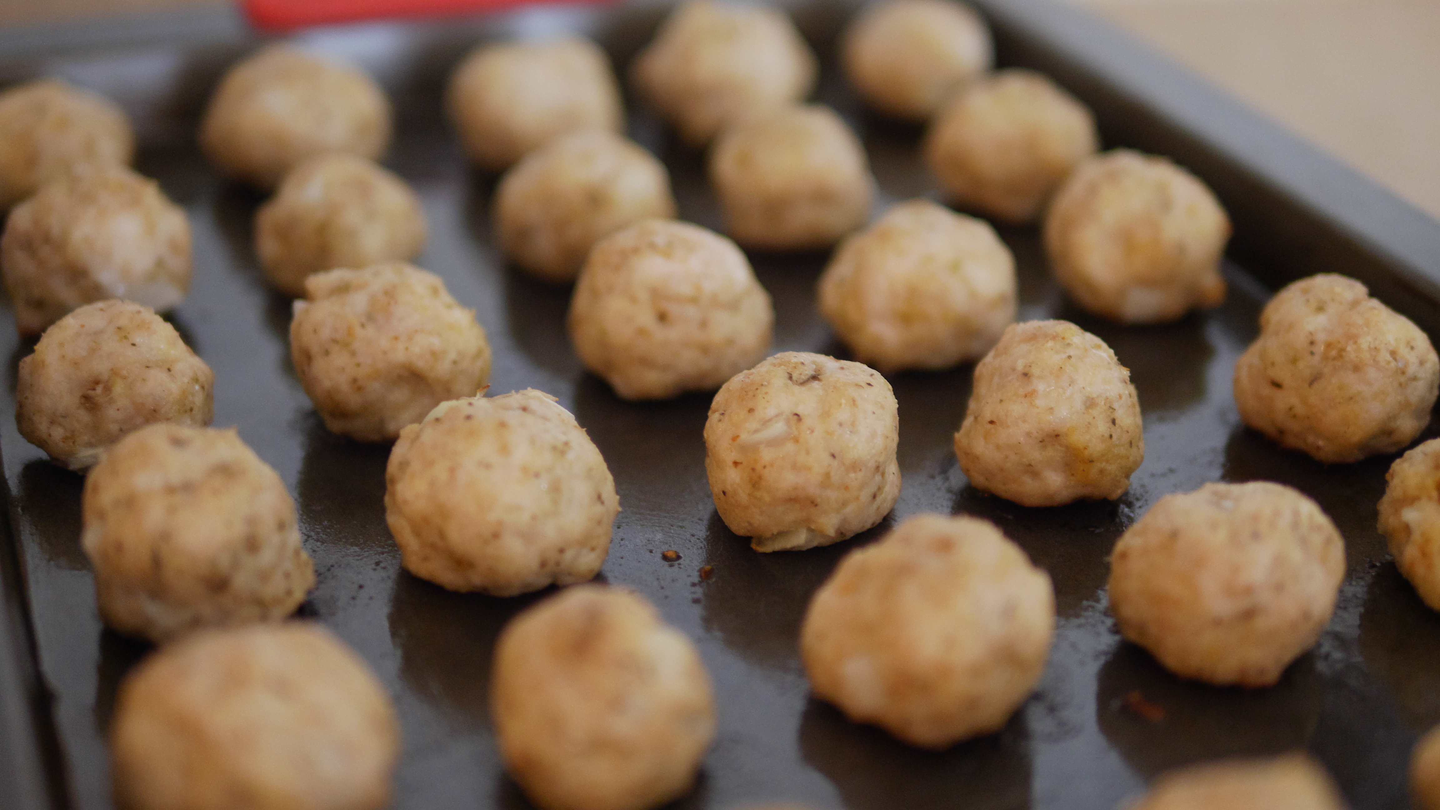 Theresa's Reviews - When you're making meatballs for turkey meatball vegetable soup, make small meatballs so they will fit on your spoon. #turkey #meatballs #turkeymeatballs #soups #healthysoup #turkeysoup #souprecipe