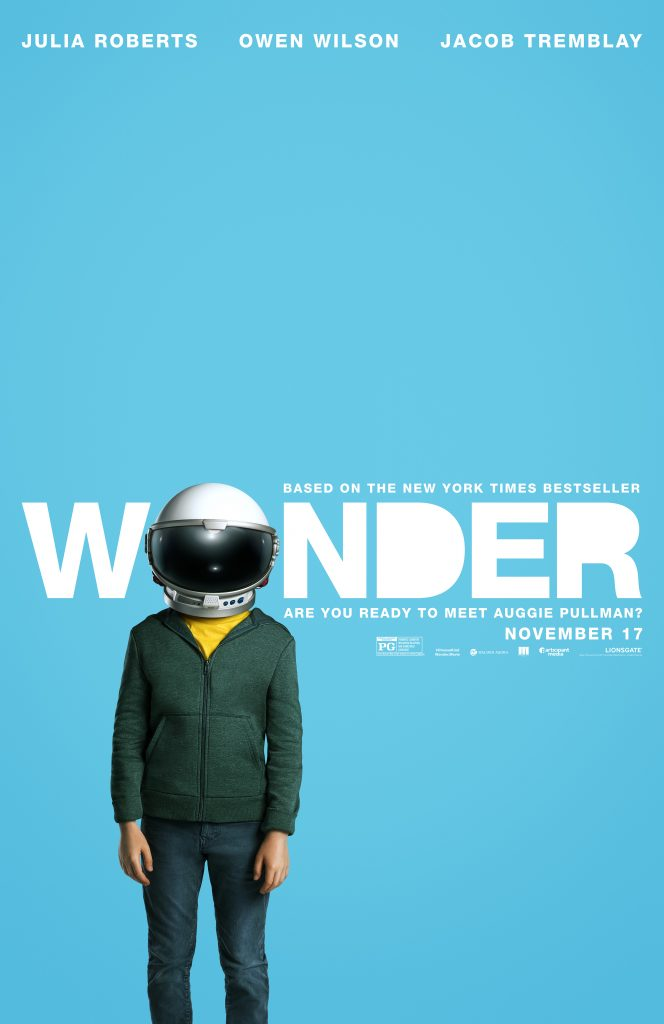 Wonder Movie Theatrical Release Poster and DIY Astronaut Helmet Activity