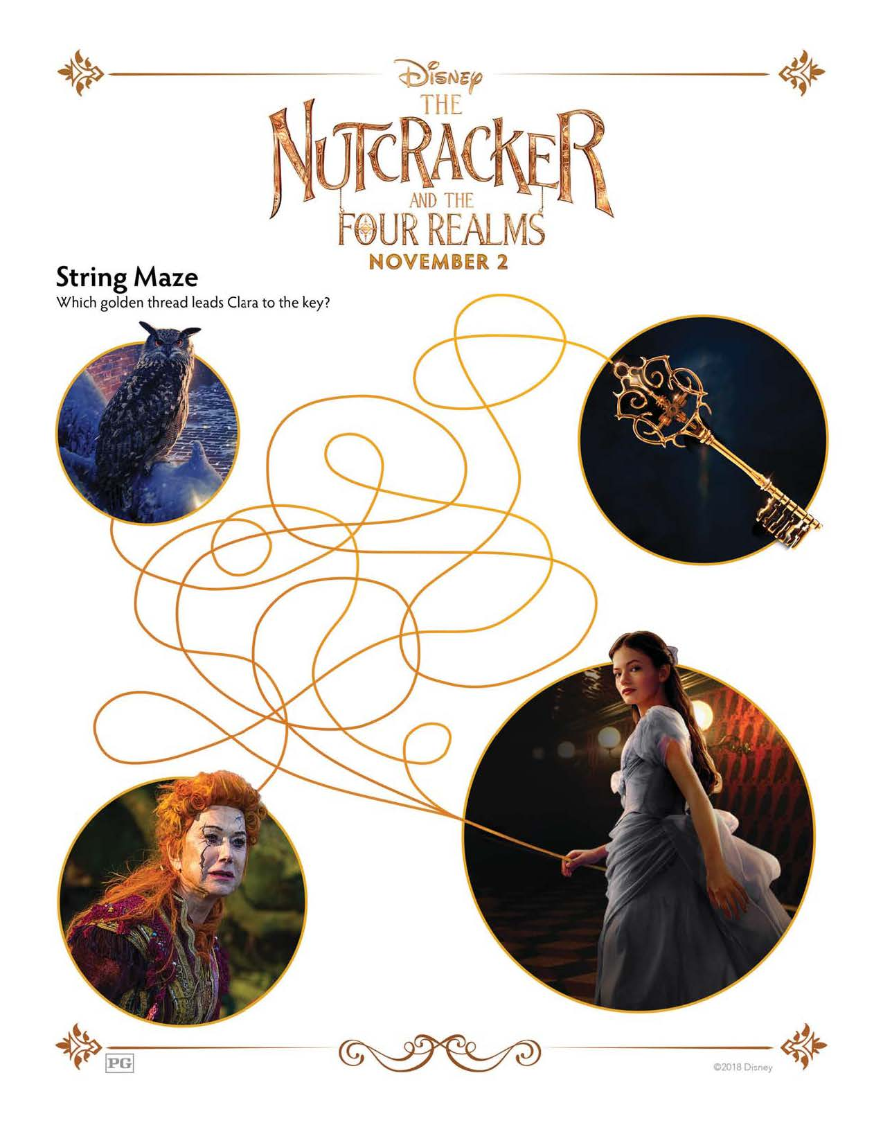 The Nutcracker and the Four Realms Activity Sheets - Theresa's Reviews