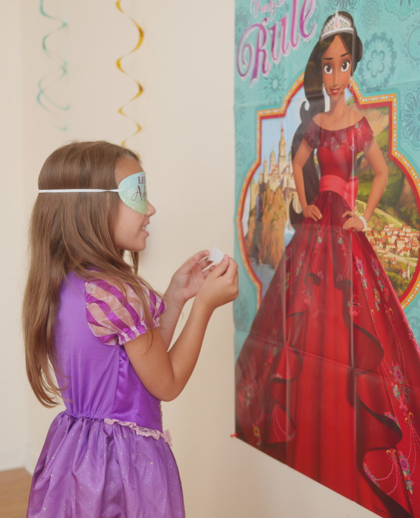 Our Casual Summertime Disney Playdate Party - Pin the Crown on Elena of Avalor - Theresa's Reviews #NowMoreThanEver