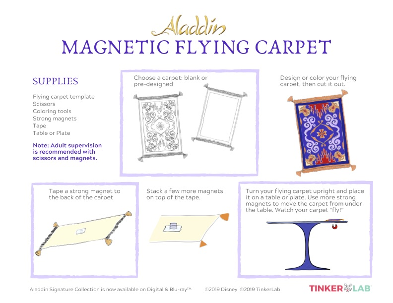 Aladdin Magnetic Flying Carpet Science Experiment
