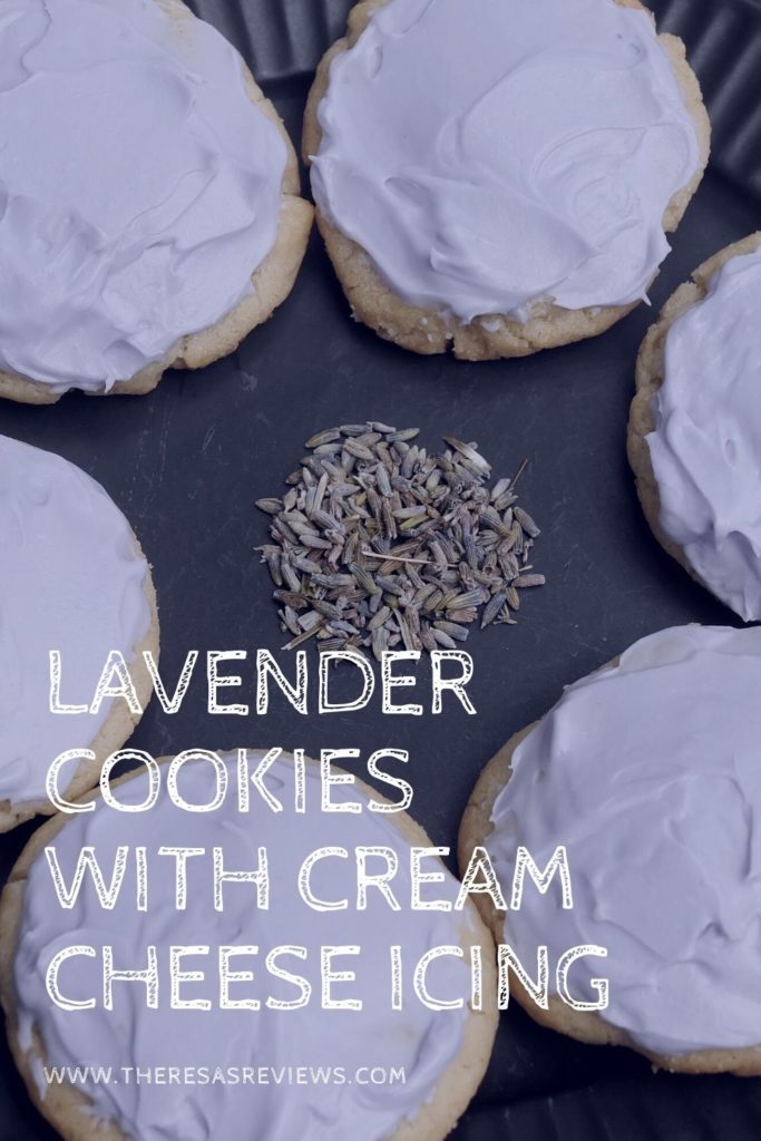 Lavender Cookies with Cream Cheese Icing
